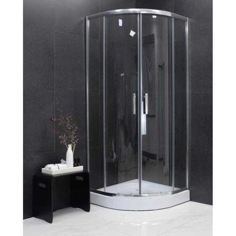 MEXEN RIO kabina prysznicowa PÓŁOKRĄGŁA 90 x 90 cm + BRODZIK