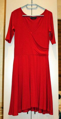 czerwona sukienka, rozmiar 34
