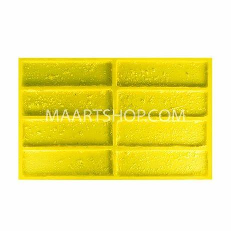 Эластичная полиуретановая форма для отливки гипсовой плитки Травертин