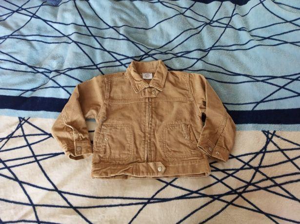 Курточка-пиджак микровельвет для мальчика 2 года