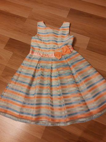 Sukienka wizytowa, elegancka, 5-10-15, rozm . 110cm