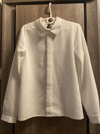 Bluzka elegancka z cyrkoniami na kołnierzyku