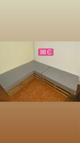 Sofá de pallet modular