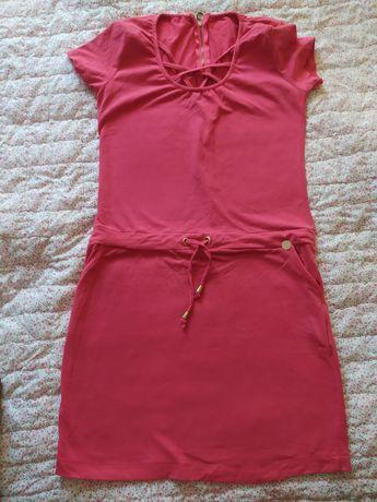 Letnia sukienka bawełniana malinowa L 40