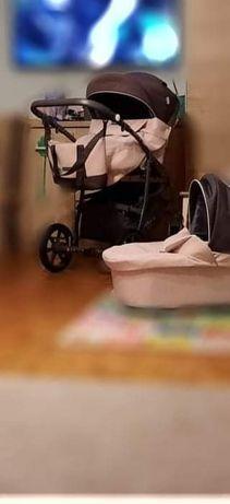 Dziewczęcy wózek 2w1