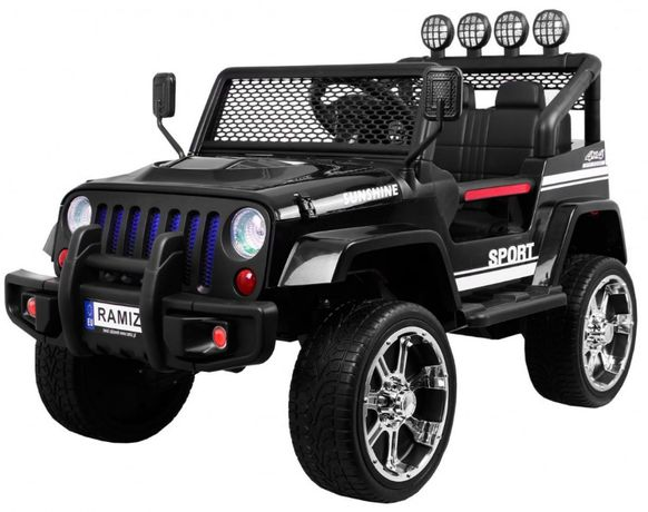 Jeep na akumulator napęd 4x4 Pilot S2388 auto na akumulator