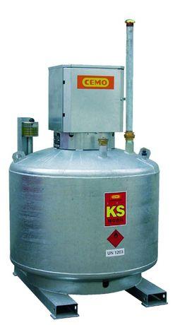 Stalowy zbiornik do benzyny o poj. 980l