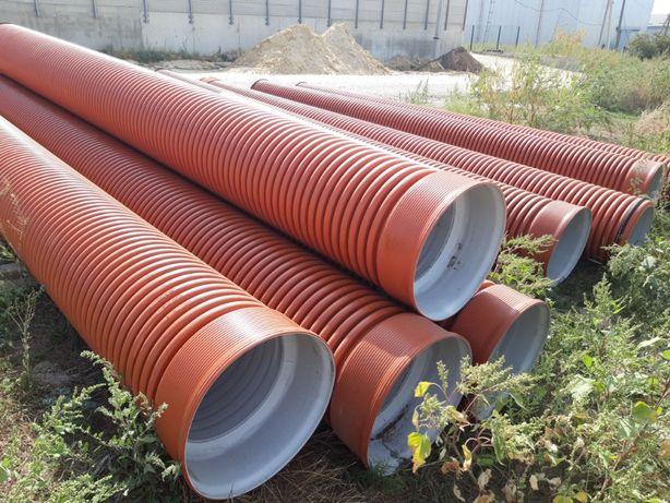 Трубы дренажные, канализационные, гофрированные 100 - 1200 мм