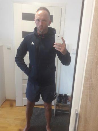 Bluza z kapturem śliska Adidas climacool climawarm B.d stan M wysyłka
