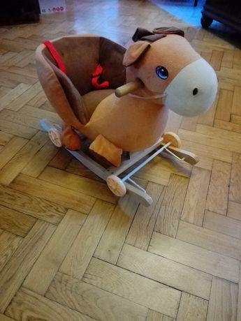 Konik na biegunach koń jeździk bujak