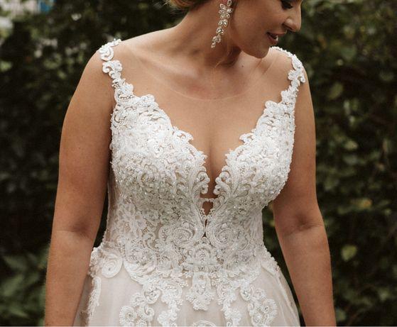 Suknia ślubna Lorange V36 rozmiar 40-44 + dwa welony gratis