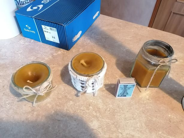 Świece, wosk pszczeli ręcznie robione