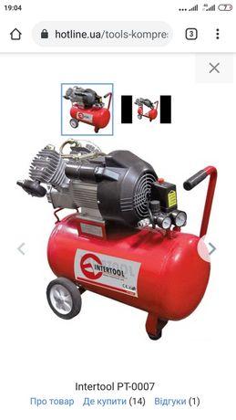 Компрессор Intertool 2х цилиндровый, 50 литровый ресивер