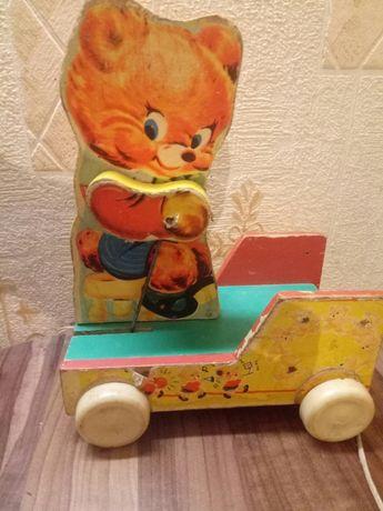 Игрушка деревянная ссср машинка