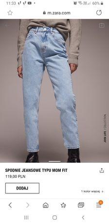 Spodnie mom fit zara