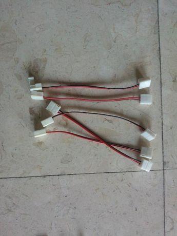 Lligadores flexiveis/fixos para fita leds com 8mm de largura
