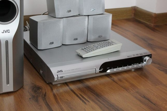 JVC Zestaw kina domowego amplituner dvd i głośniki 5+subwoofer Wysyłka