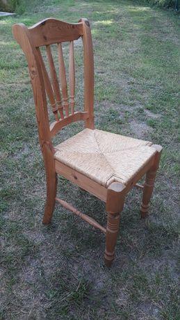 Stół i krzesla sosnowe