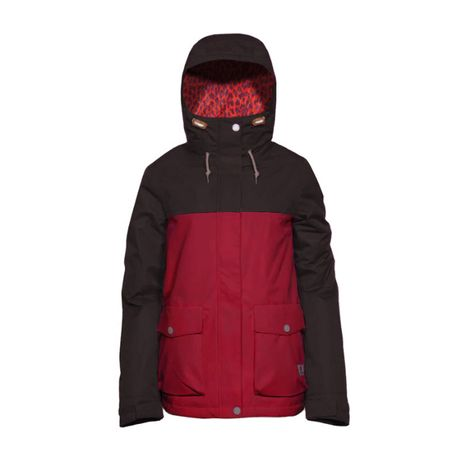 Kurtka ski / snb CLWR Crop jacket burgundy NOWA