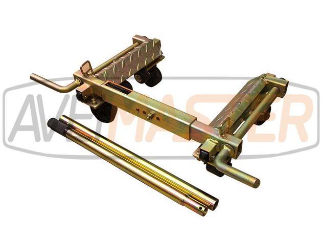 Carro Ajustavel Galvanizado c/4 rodas fixas / Giratorias 080220;080222