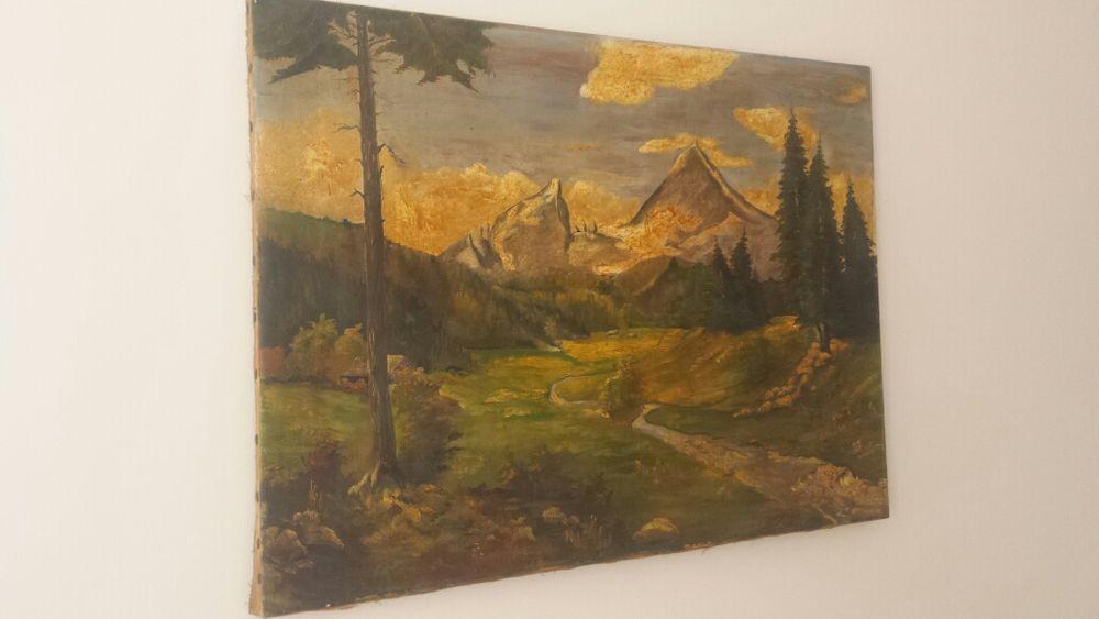 Stary obraz olejny Conrad 1938r Skierniewice - image 1