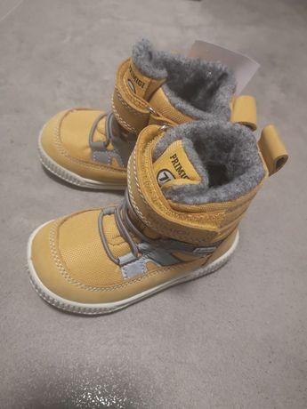 Buty zimowe primigi nowe 20 musztardowe dla chlopca