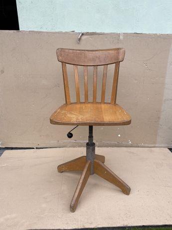 Stoll Giroflex krzesło, fotel obrotowy, obrotowe, stare, drewniany