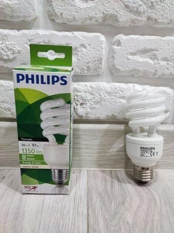 Энергосберегающая Лампа - PHILIPS (экономка) Tornado 20W E27