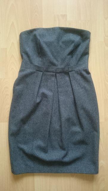 Sukienka SIMPLE roz. 38 Gorsetowa na fiszbinach z kieszeniami WEŁNA