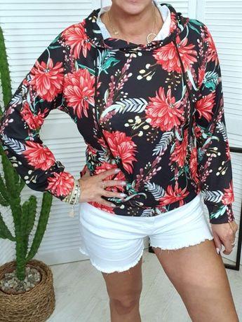 Bluza w kwiaty S- L, Nowa