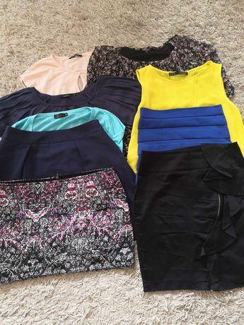 Zestaw ubrań 9 sztuk bluzki spódniczki Mohito Zara S M