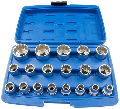 Zestaw kluczy nasadki spline 8-32 klucze 1/2 19el (KLU42)