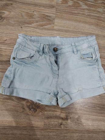 Krótkie spodenki jeansowe 128 cm 7-8 lat