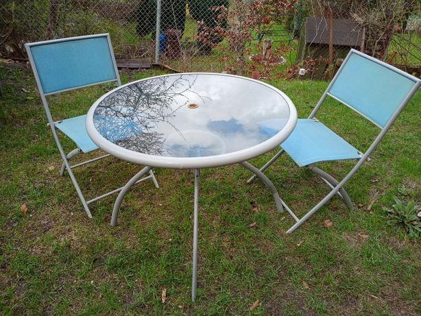 Stół i 4 krzesła. Zestaw ogrodowy