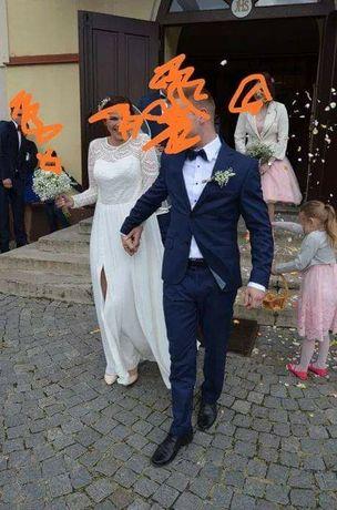 Rustykalna sukienka ślubna