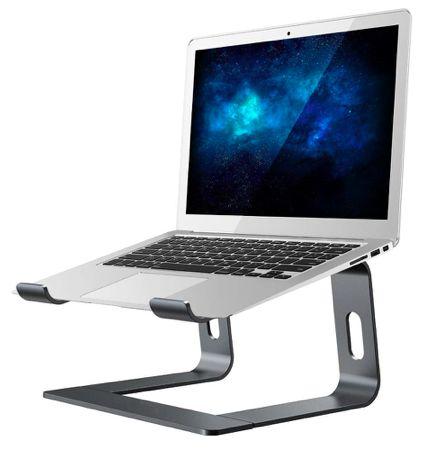 SZARY Stojak na Notebook MacBook AIR PRO Aluminiowy Podstawka Stolik