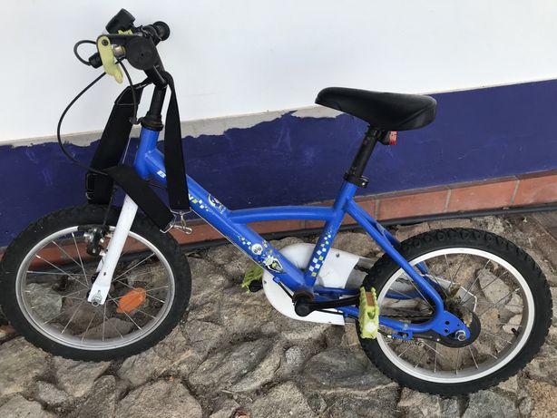 Bicicleta Decathlon Btwin 4/7 anos 16 polegadas