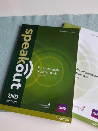 Speakout 2ND edition, Pre- intermediate, podręcznik +ćwieczenia.