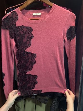 Теплый свитер свитшот цвета сангрия с р.S