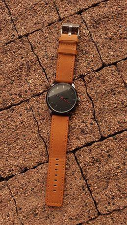 Zegarek męski - brązowy skórzany pasek