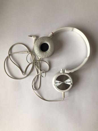 Słuchawki Sony białe