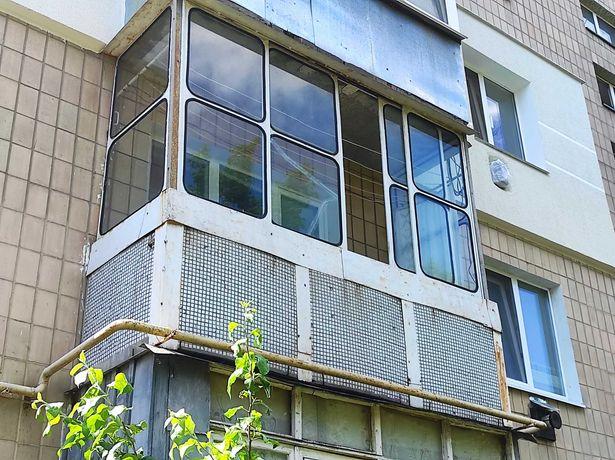 Вітражі на балкон, балкон, металева рама, вікна з металопрофілем...