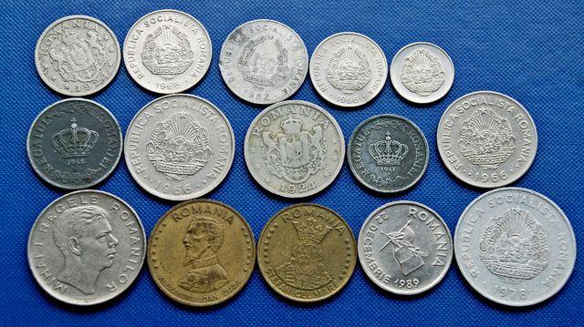 Набор монет Румынии, Японии, Монголии, Мексики