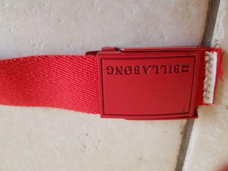 Пояс красный тканевый billabong