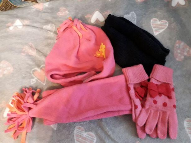 Czapka+szalik+rękawiczki dla dziewczynki
