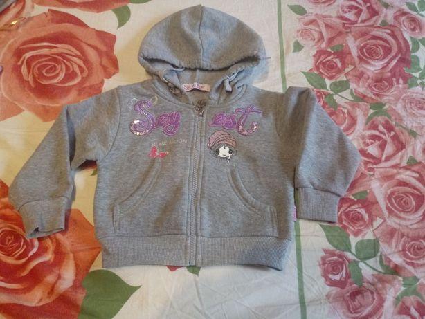 Теплые вещи вязанная кофта свитер болеро на девочку 6-9-12 мес