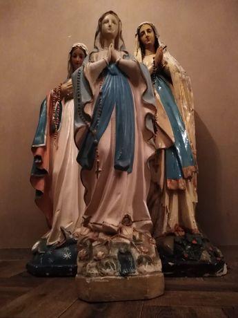 Matka Boska Maryja stara figura gipsowa