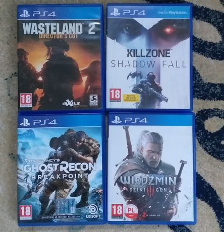 Gry na ps4 wiedźmin Killzone ghost recon wasteland 2 PlayStation