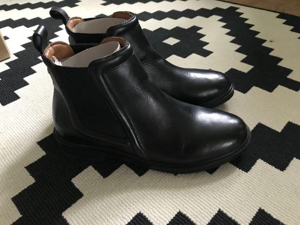 Skórzane Botki Zara 36