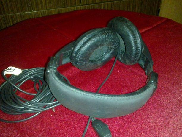 Słuchawki Hama z kablem 5m